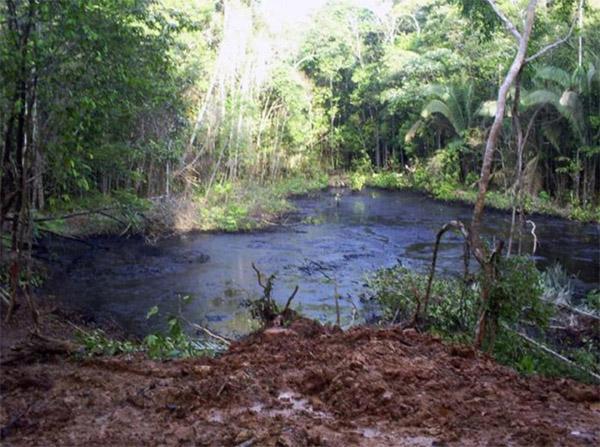 Laguna Shanshococha contaminada