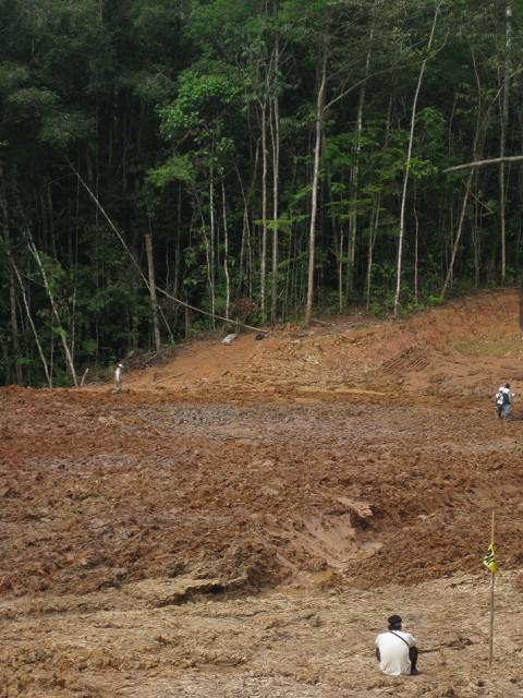Espacio vacío de la laguna Shanshococha, desaparecida por Pluspetrol en octubre de 2012.