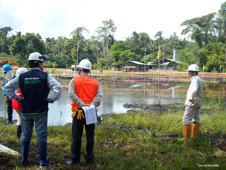 Marañón. Fotografía tomada durante la inspección fiscal y de OEFA en el lote 8x, dentro de la Reserva Nacional Pacaya Samiria.