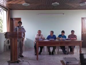 Alfonso López, durante la presentación de la propuesta, en Nauta.