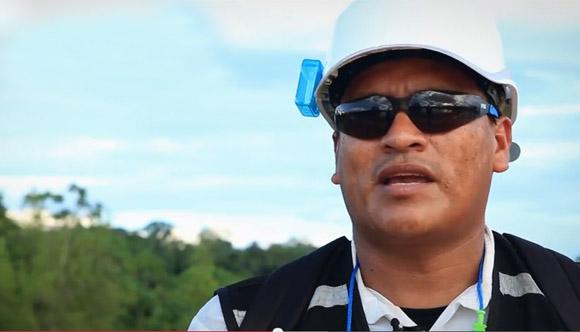 Venancio, en un video del Ministerio del Ambiente.
