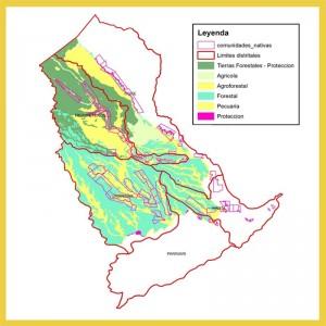 Mapa de actividades recomendadas para la provincia de Loreto-Naurta, por el ZEE de 2001.