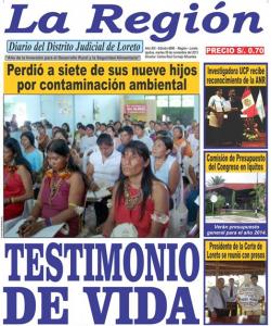 Portada, Diario La Región.