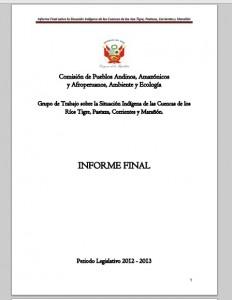 Informe 4 cuencas