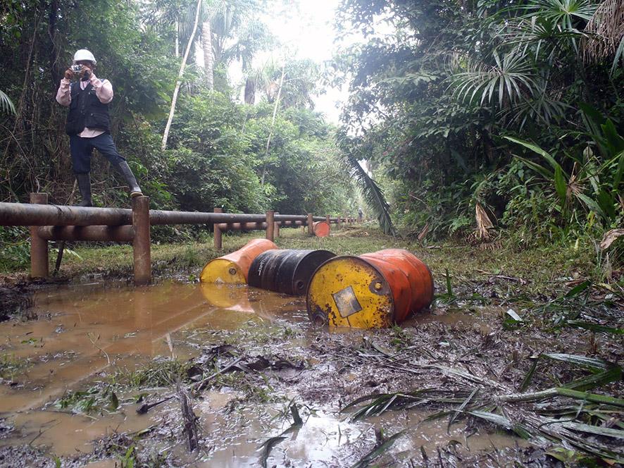 Monitor ambiental y hallazgo de derrame en la cuenca del Tigre. Feconat - Programa de Monitoreo Ambiental y Vigilancia territorial han cumplido un rol indispensable en este trabajo.