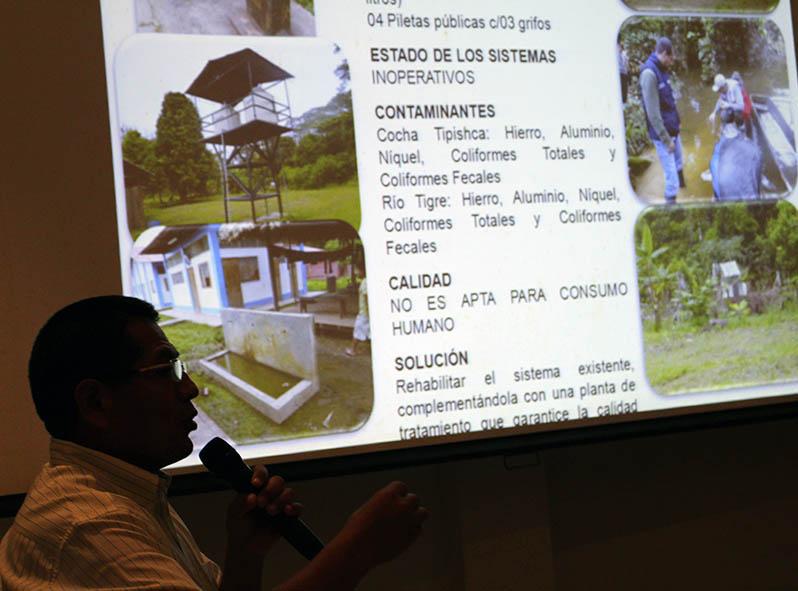 Presentación de resultado de la Dirección General de Salud Ambiental - DIGESA, en Iquitos. (octubre, 2013).