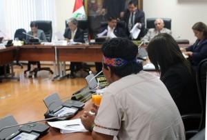 Apu Aurelio interviene en sesión de Comisión de Pueblo del Congreso, ante Ministro del Ambiente.