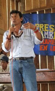 Alfonso López, durante asamblea en febrero de 2014.