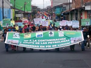 Marcha kukama en Iquitos, julio 2010.