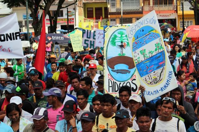 Protesta kukama. Iquitos, 17/06/2014.