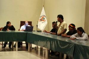 Apu Aurelio Chino, durante intervención en la comisión.
