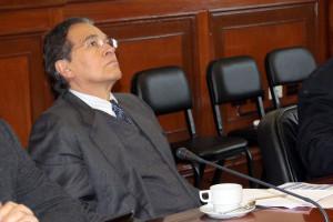 Vladimiro Huaroc, de la ONDS, durante la reunión.