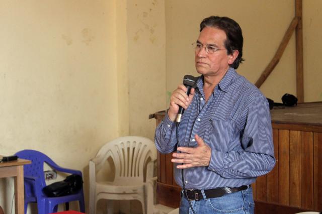 Vladimiro Huarco durante su intervención.
