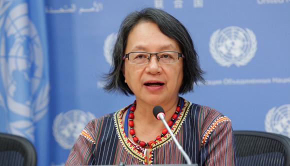 Victoria Tauli Corpuz, Relatora de la ONU sobre los derechos de los pueblos indígenas.