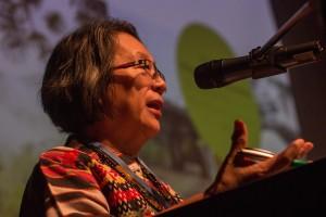 Victoria Tauli, en presentación en la última COP20, en ima.