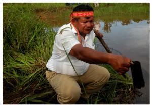 Apu de la comunidad Alianza Capahuari. Foto: FEDIQUEP, 2012.