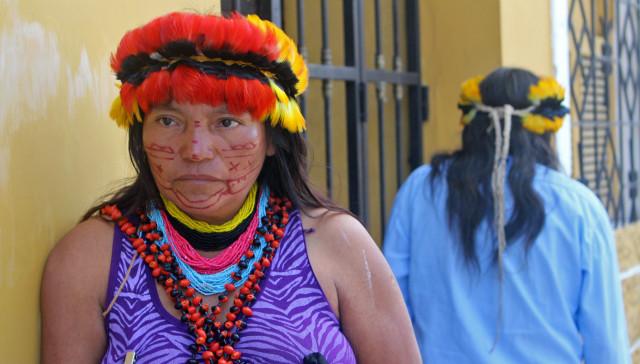 Soraida Paima, madre indígena de la delegación de Nueva Jerusalén.