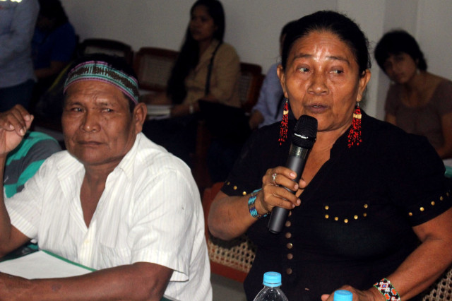 Madre indígena de FEDIQUEP.