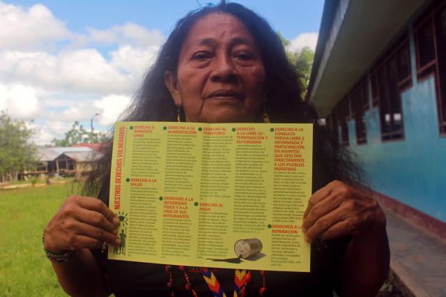 Madre indígena de FEDIQUEP, Magdalena Chino.