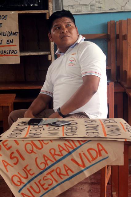 Apu Carlos Sandi, presidente de FECONACO.