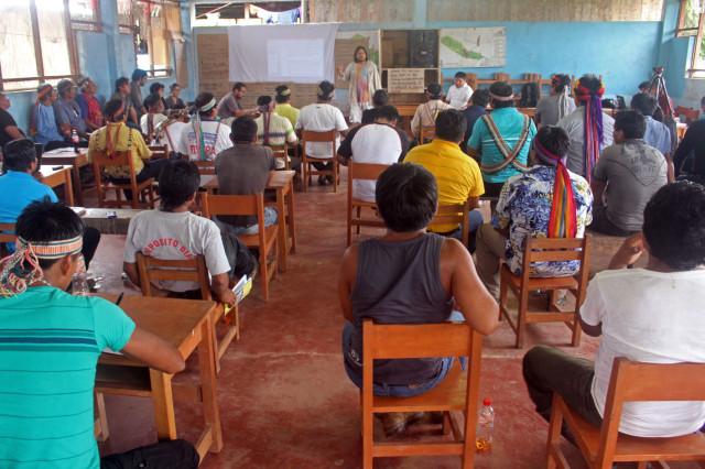 Asamblea quechua del Pastaza y Achuar del Corrientes, desarrollando visión de pueblos.