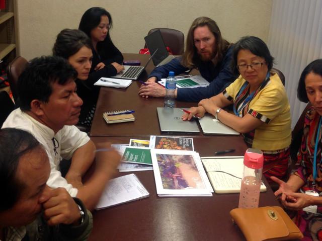 En reunión con Victoria Tauli-Corpuz, relatora de la ONU sobre Pueblos Indígenas,