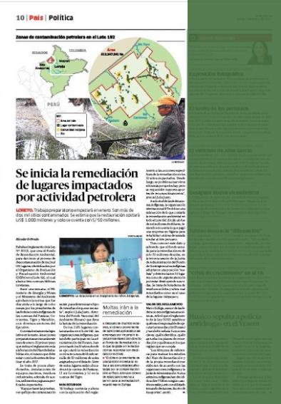 Artículo en Diario La República.