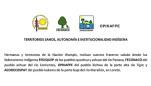 Saludo de FEDIQUEP, FECONACO, OPIKAFPE y ACODECOSPAT a la formación del Gobierno Territorial Autónomo de la Nación Wampís
