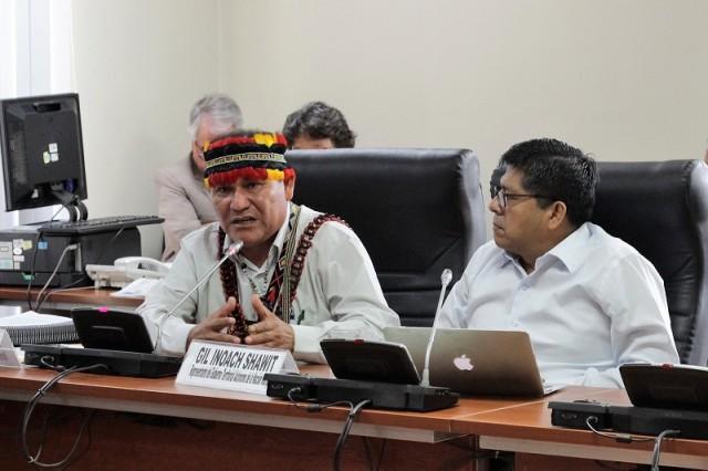 Wrays Pérez, Pamuk (máxima autoridad indígena) del territorio autónomo wampis.