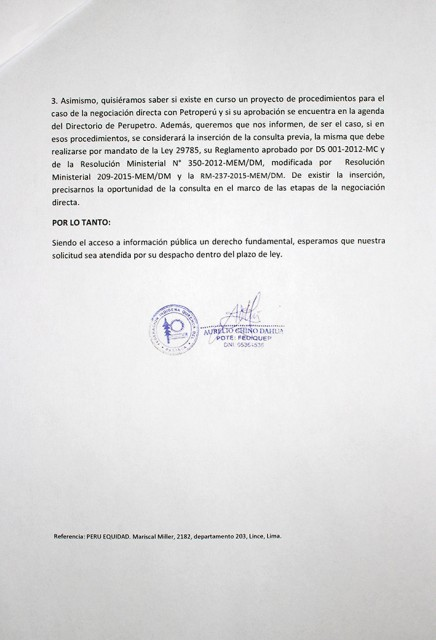 Segunda cara del documento