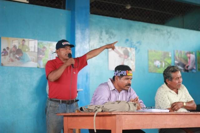 Clever Cruz, comunero de Nuevo Andoas
