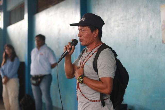 Apu de Alianza Topal, Edinson Sánchez. Foto: PUINAMUDT