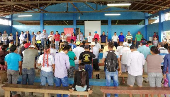 Reunión con Petroperú del 8 de junio de 2018 en Nuevo Andoas donde se llegaron a acuerdos sobre la atención frente al derrame del 25 de mayo.