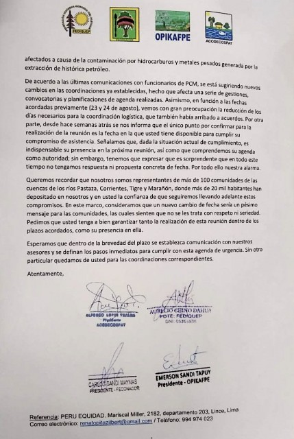 Carta Ministro Villanueva 2