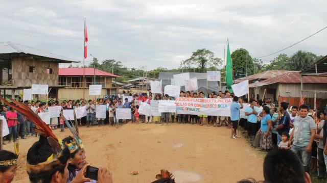 Comunidad Kichwa de Doce de Octubre durante Minga Pacífica para el Diálogo con el Estado sobre la Consulta Previa del Lote 192 - setiembre de 2017
