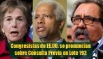 Congresistas Estadounidenses llaman la atención hacia situación del Lote 192 y piden que se garantice la Consulta Previa