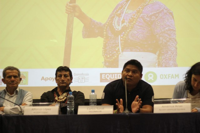 Apu Carlos Sandi, presidente de FECONACOR